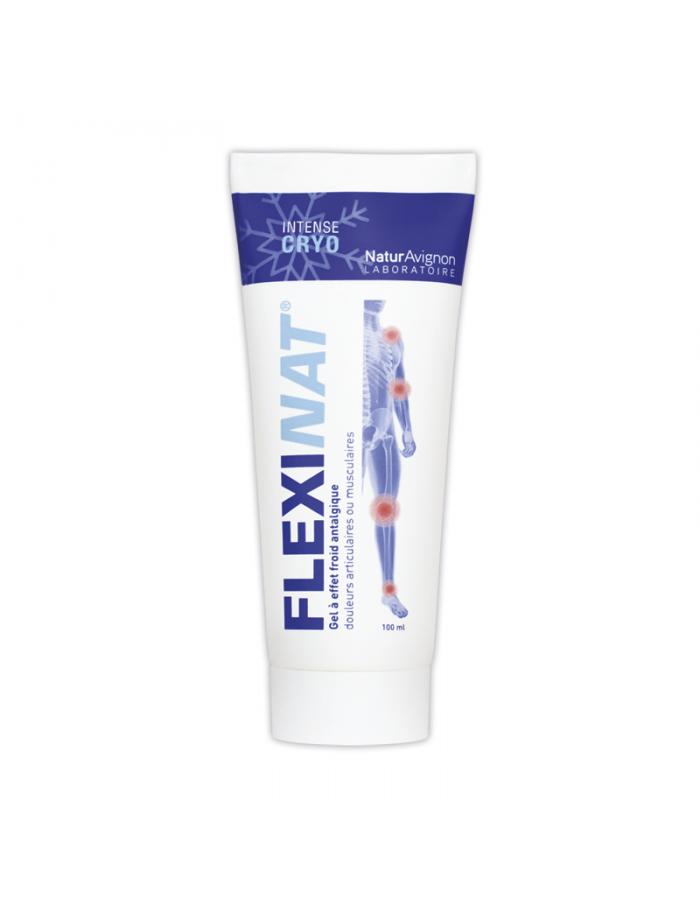 Laboratoire NaturAvignon - Gel à effet froid Flexinat en tube soulage les douleurs musculaires et articulaires