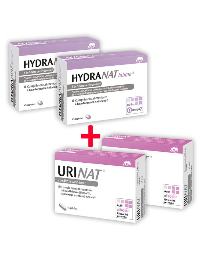 Laboratoire NaturAvignon - HydraNat et VessiNat pour les sécheresses vaginales et le confort urinaire - 2x2 boites