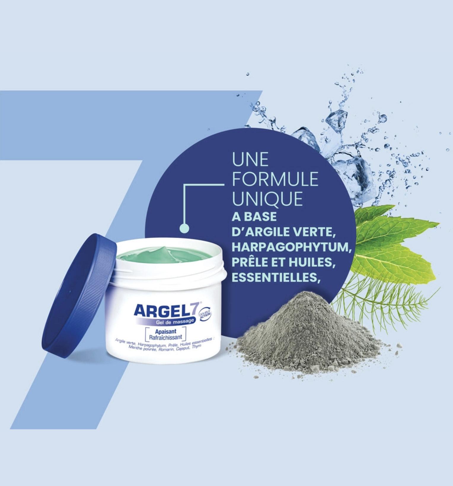 Gel de massage Argel 7 | Laboratoire NaturAvignon